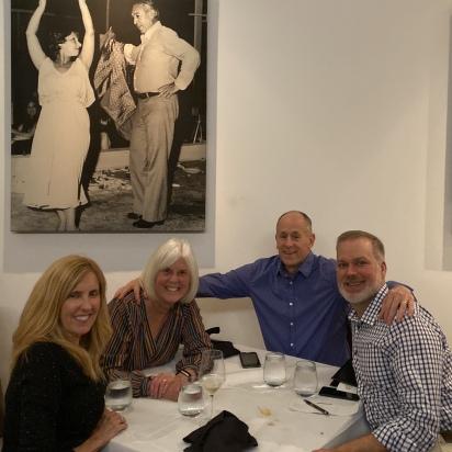 Karen, me, Mike and Michael at Nostos