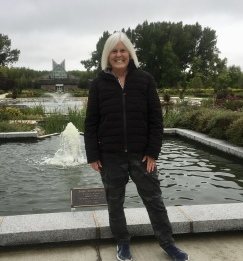 me at the International Peace Garden straddling North Dakota and Canada