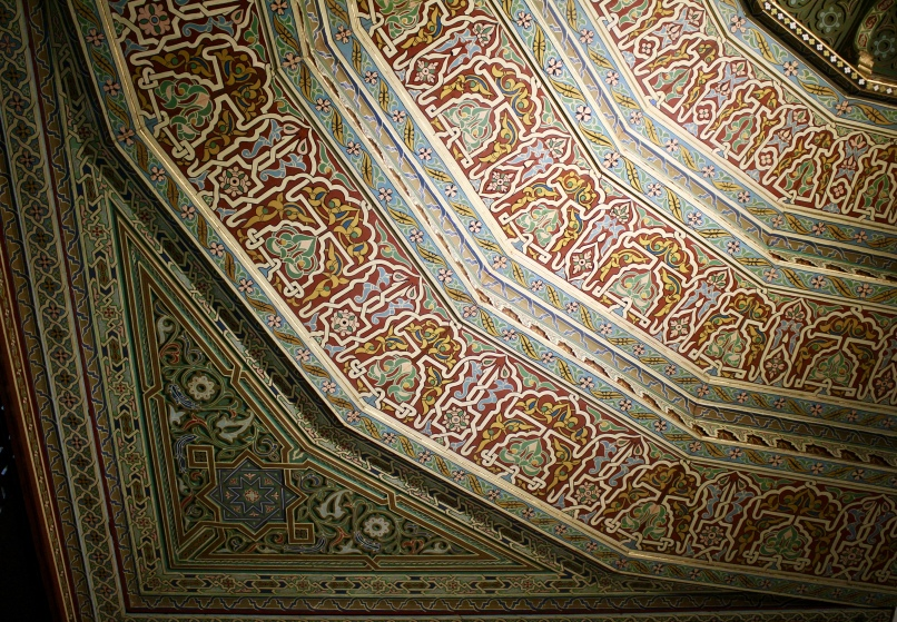 interior decor in the mosque