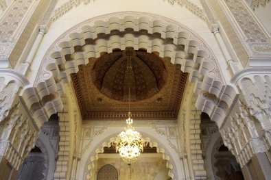 prayer hall at Hassan II Mosque