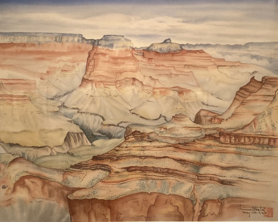 Painting by Chiura Obata at SAAM