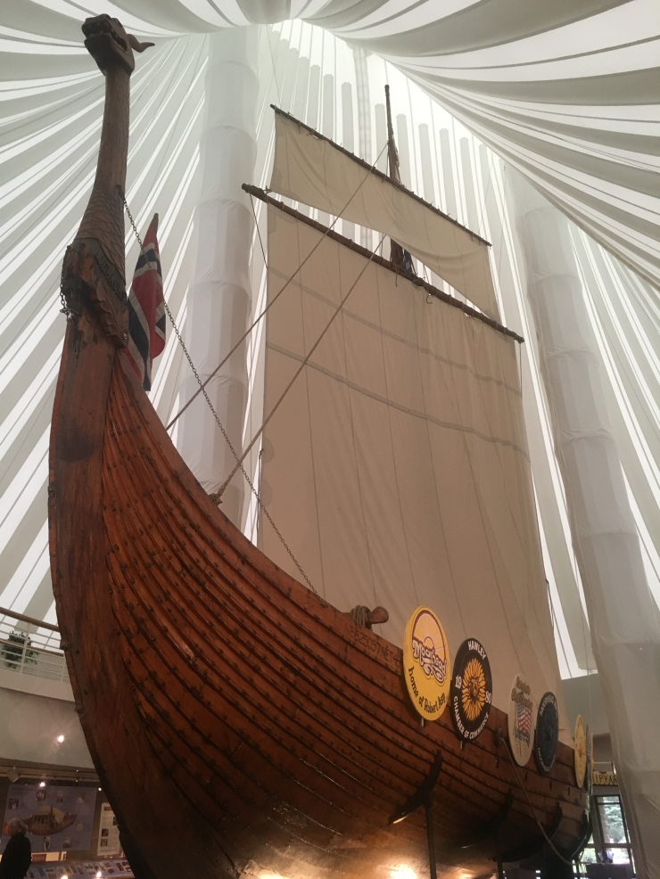 Hjemkomst Viking Ship Replica at Hjemkomst Center in Moorhead, MN