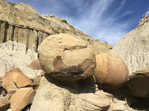cannonball concretions at Theodore Roosevelt National Park