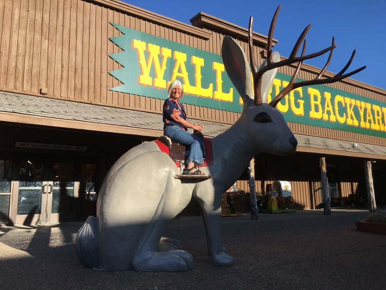 me on the jackalope at Wall Drug