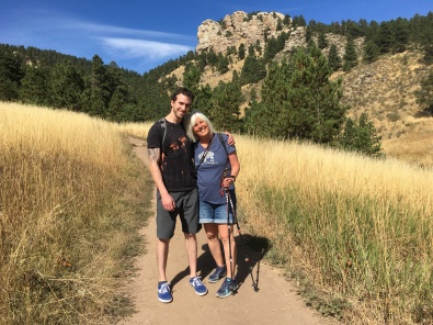 Alex and me at Arthur's Rock at Lory State Park near Fort Collins, CO