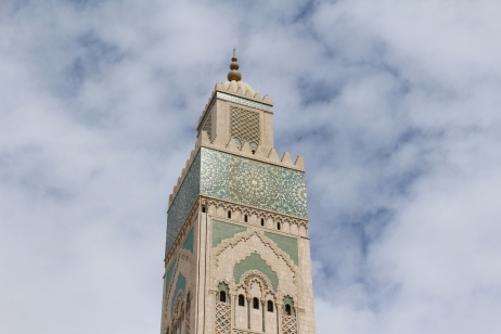 the minaret of Hassan II Mosque