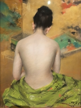 Study of Flesh Color and Gold (1888) by William Merritt Chase