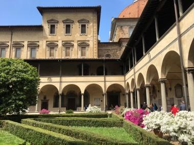 cloister in San Gimignano