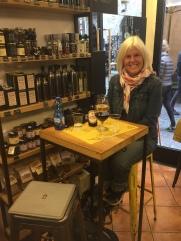 me having wine in Orvieto