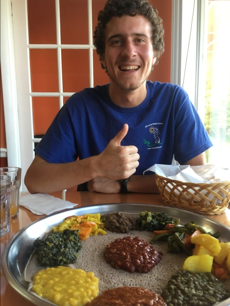 my youngest son at Ethiopian