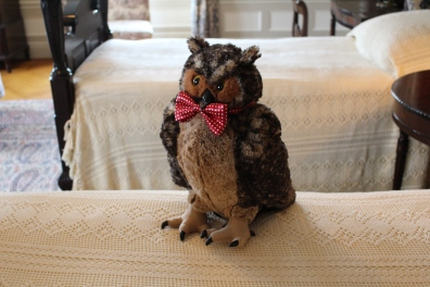 stuffed owl in North Front Bedroom