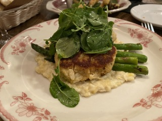 Crab cakes at Poogan's Porch