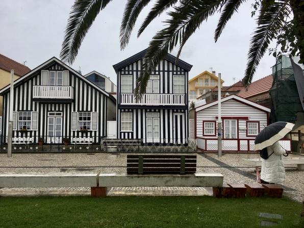 "the candy-striped ""haystacks"" of Costa Nova"