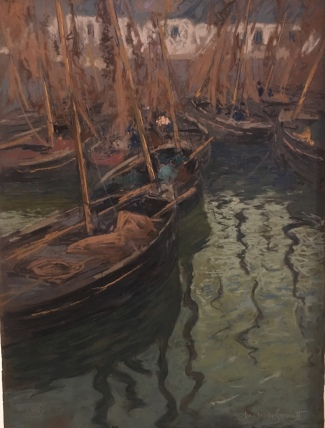 A Dock Harmony - Fishing Boats by Charles Fromuth (1897)