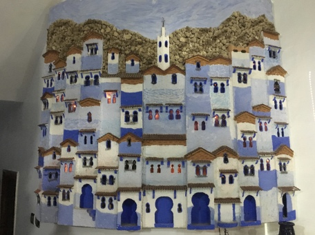 painting of Chefchaouen