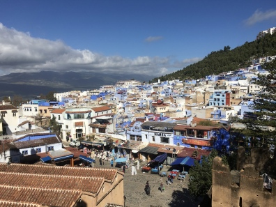 view of kasbah in Chefchaouen from the kasbah