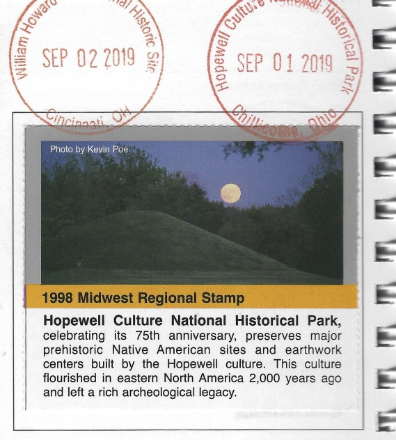 Cancellation stamp for Hopewell Culture NHP