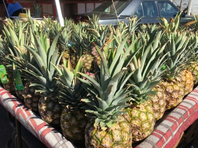 pineapples at Quartier des Habous