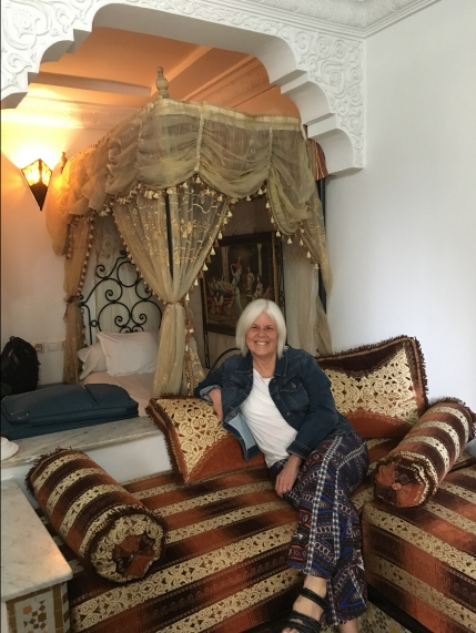 me in our room at Moroccan House Hotel Casablanca
