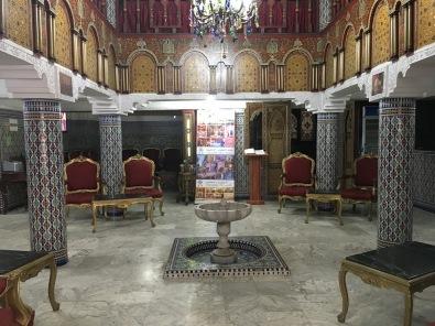 lobby of Moroccan House Hotel Casablanca