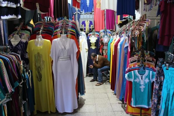 gaudy clothes at Quartier des Habous