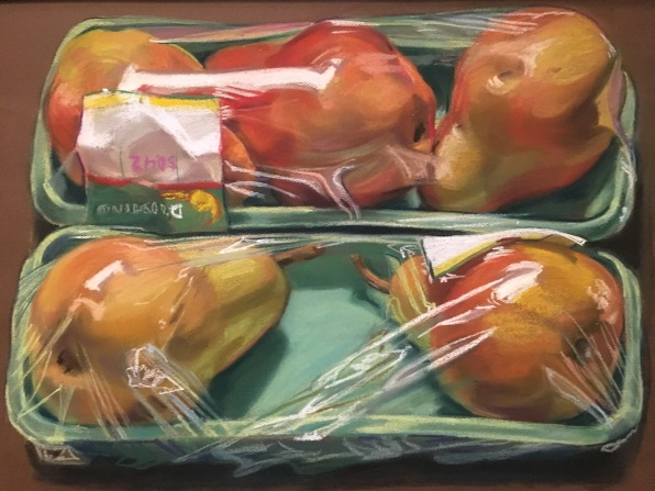 Grocery-wrapped Pears by Janet Fish (1974)