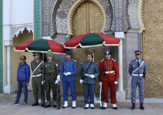 guards at Dar el-Makhzen (Royal Palace)