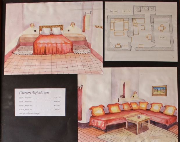 drawings of Berber homes