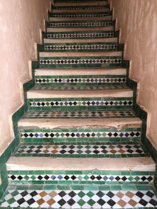 stairway at Medersa el-Attarine