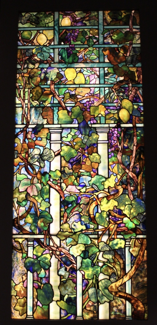 Grape Vine and Lemon Tree with Trellis window, about 1910. Tiffany Studios, New York.