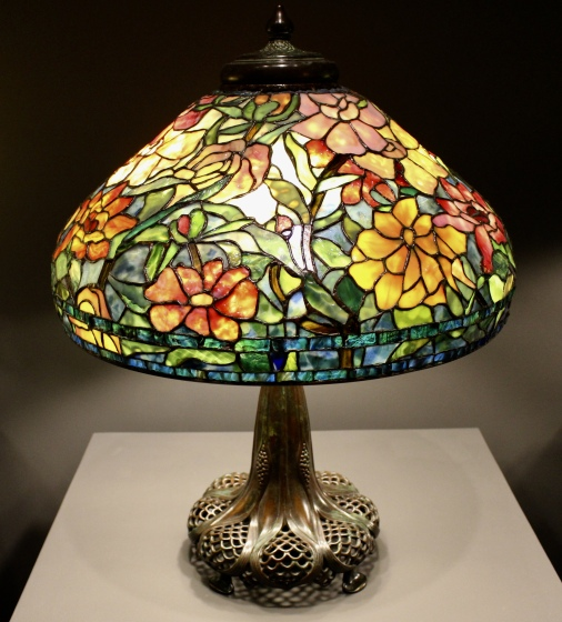 Peony Lamp, forgery, late 1900s. Maker unknown.