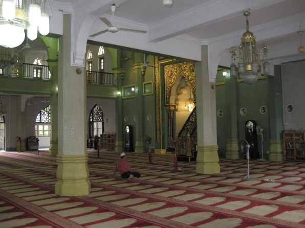 inside Masjid Sultan Mosque