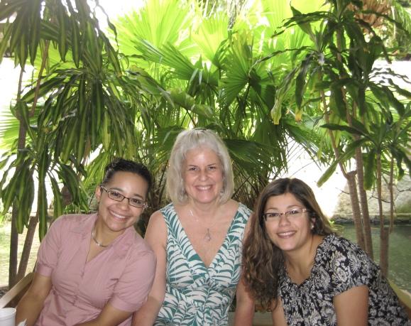 Luz, me and Johanna