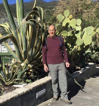 Mike with the cacti
