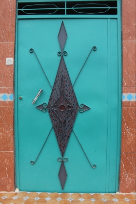 door in one of the villages