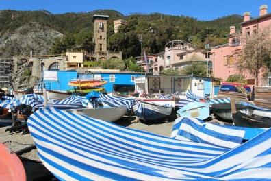 boats in Monterosso al Mare