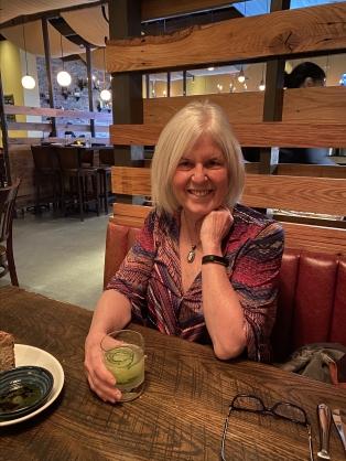 me at dinner at Alta Strada Mosaic