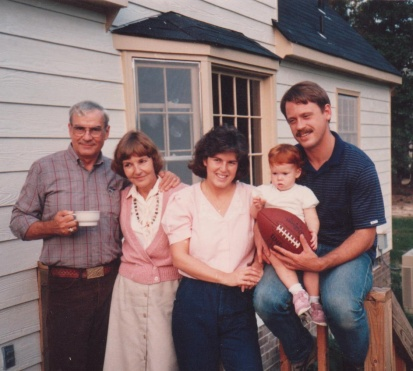 Dad, Mom, me, Sarah, and Bill