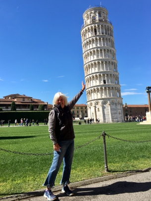 Me holding up the Leaning Tower