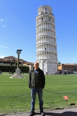 Mike with the Leaning Tower