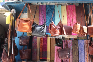 bags and textiles in Essaouira