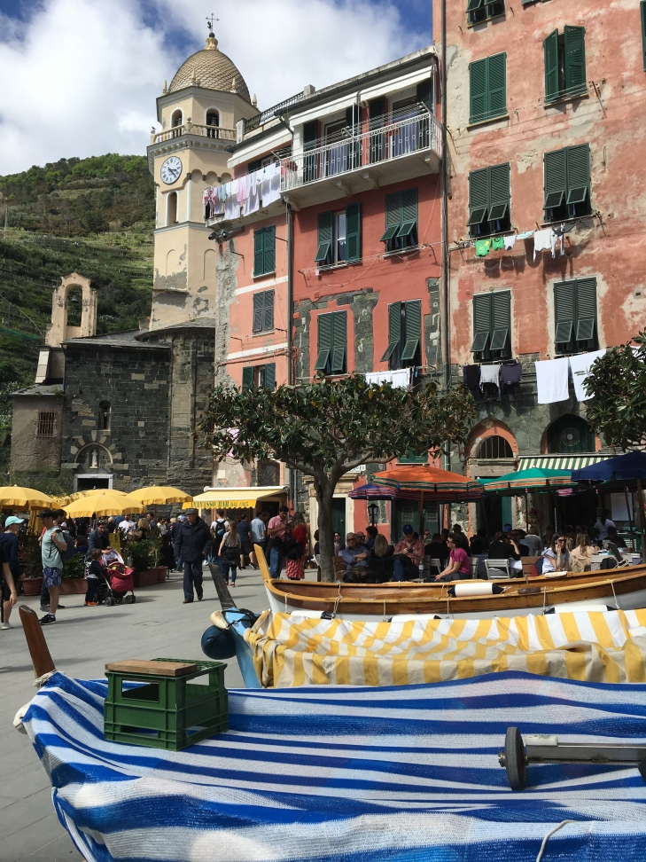 at Vernazza's harbor