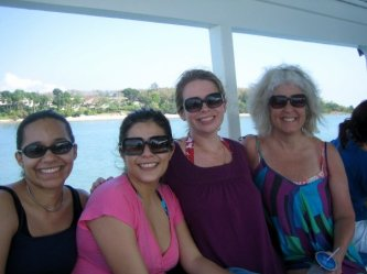 us on the boat to Phang Nga Bay (courtesy Jennifer Fox)