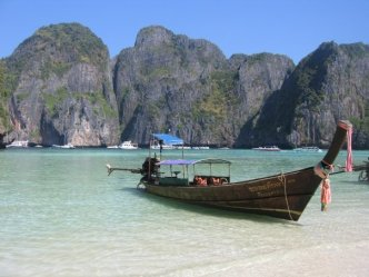 boat at James Bond Island (courtesy Jennifer Fox)