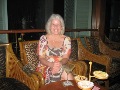 me at the Bamboo Bar at Mandarin Oriental Bangkok