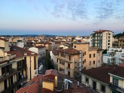 """view of Florence from """"Terrace with a View"""" apartment"""