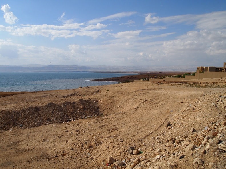 first glimpse of the Dead Sea
