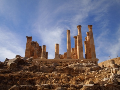 the Temple of Zeus at Jerash