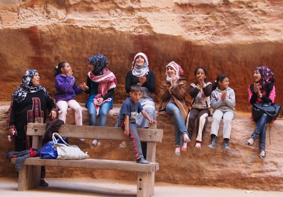 kids in As-Siq