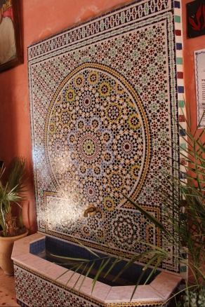 tile fountain in a random riad